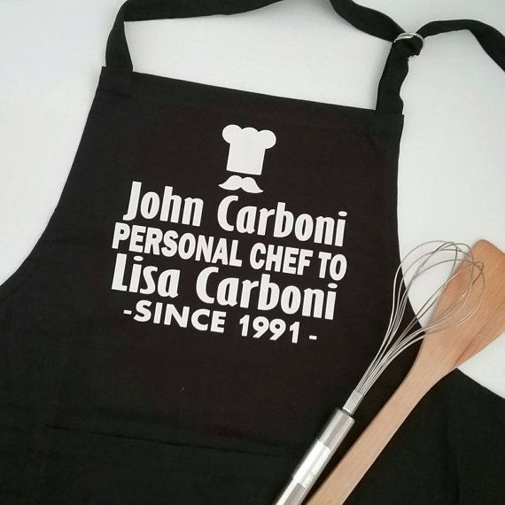 Groom Apron; Personalised Kitchen Apron; Personalised Chef Since ...