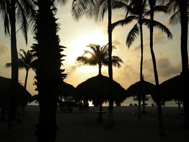 Palm Beach, Aruba at Sunset