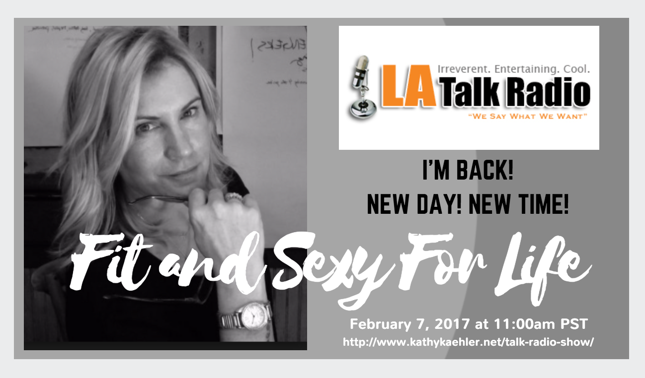 New day New Time for Kathy Kaehler's Fit and Sexy for Life on LATalkradio.com
