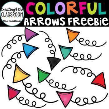 Colorful Arrows Clip Art Freebie