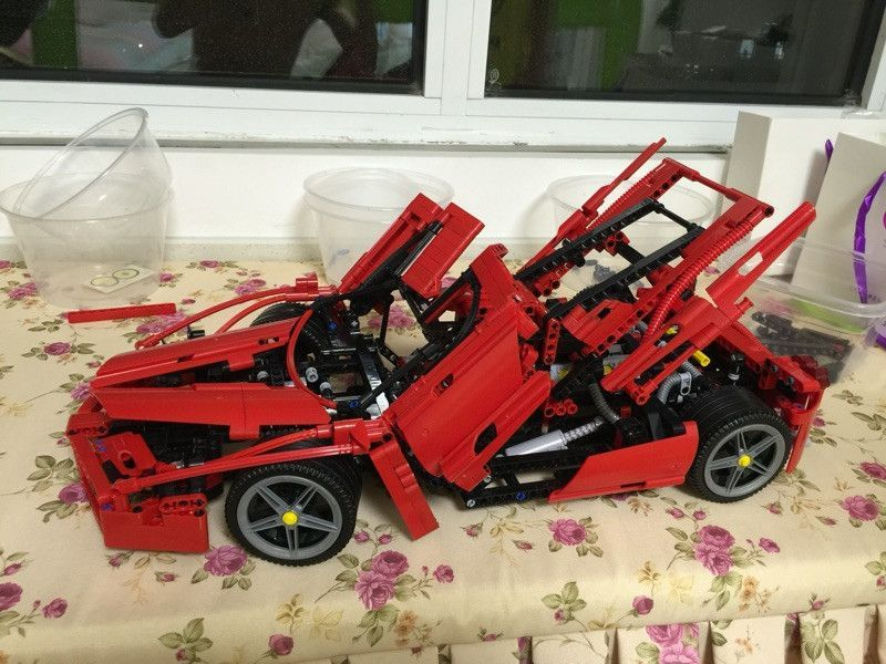 2016 New Bela Technic ENZO 1:10 Supercar Car Model Building Block Educational Construction Bricks compatible with legoed 8653