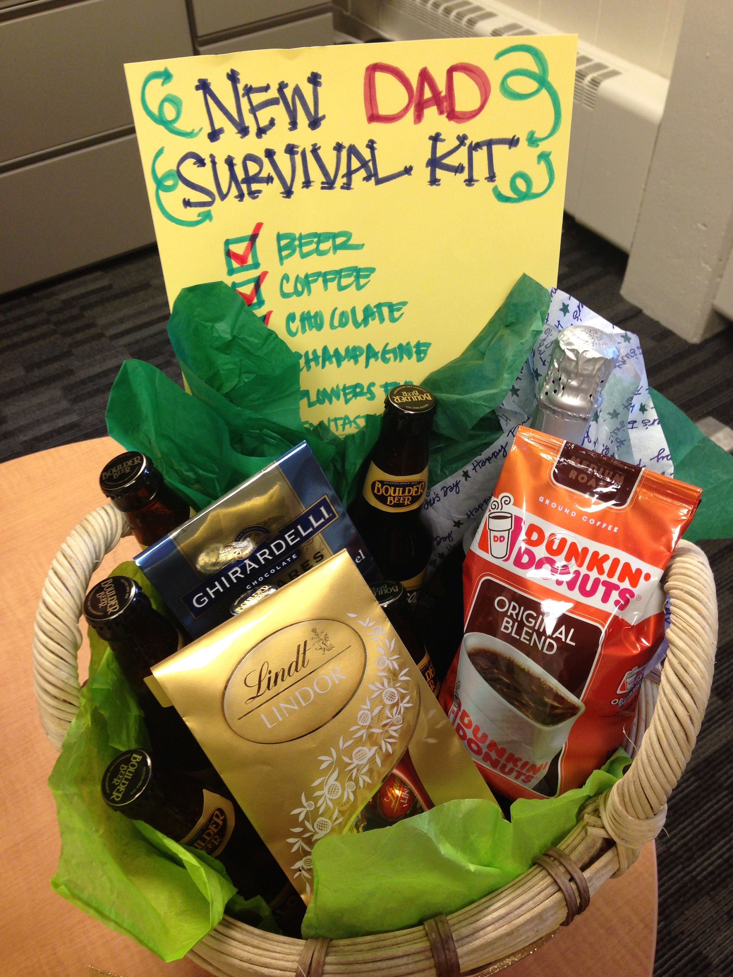 A Pinspired New Dad Survival Kit My Coworkers And I Made