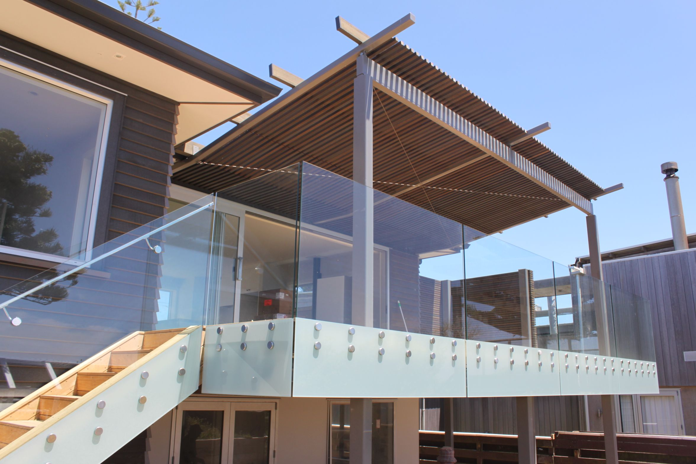 Frameless Glass Balustrade By Outdoor Edge Frameless Glass Balustrade Glass Porch Glass Balustrade