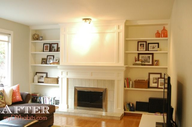 DIY Brick Fireplace Refacing   Reface fireplace, Brick ...