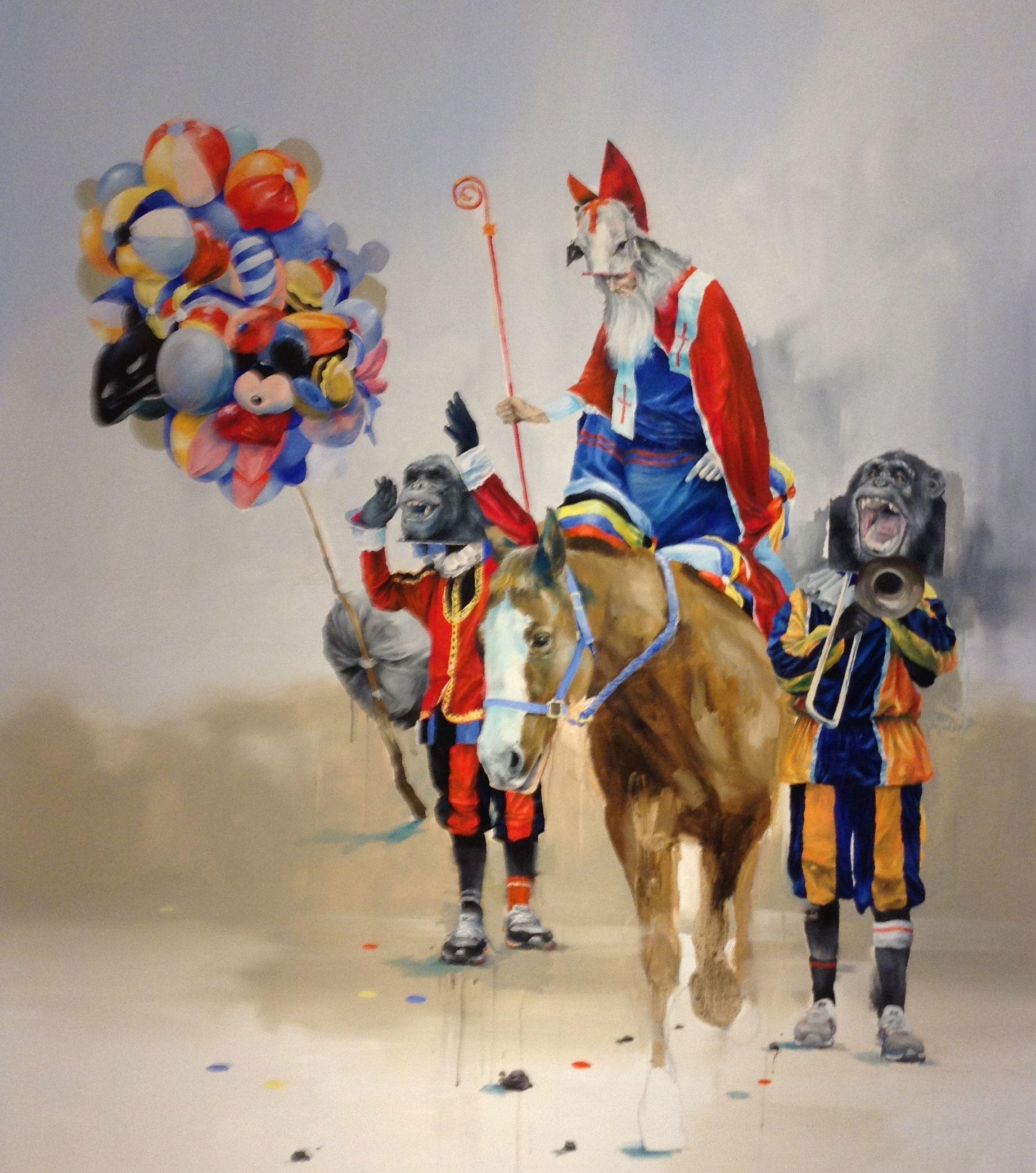 Joram roukes desolated parade oil on canvas 2012