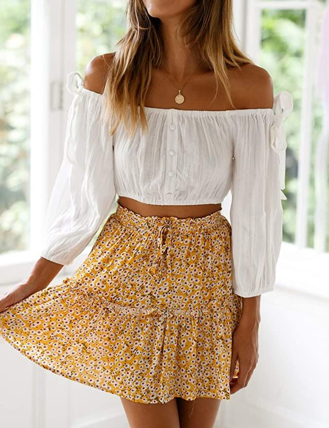This summer's skirt selection is too cute to ignore. There is something about a cute skirt that makes you feel confident and ready to take on the world. #cuteskirts #casualskirts #summerskirts #springskirts #womensskirts #skirtoutfits #summeroutfits #summerclothes #summeroutftswomen