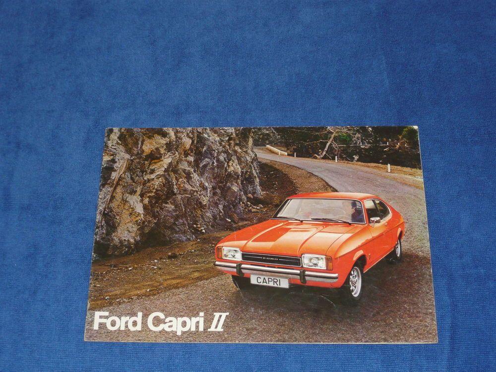 Ford Capri Ii Mk2 Gt Ghia Rare Dutch Belgian Range Brochure