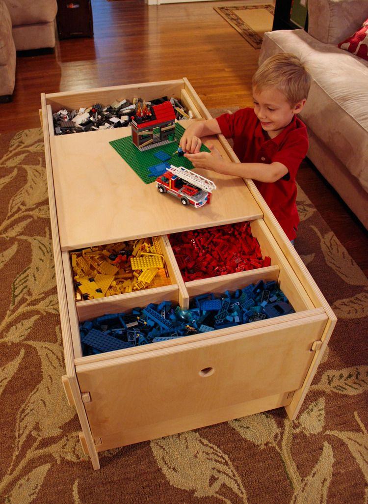 Lego Storage Table With Shelf Filled With Lego Lego Storage Lego Room