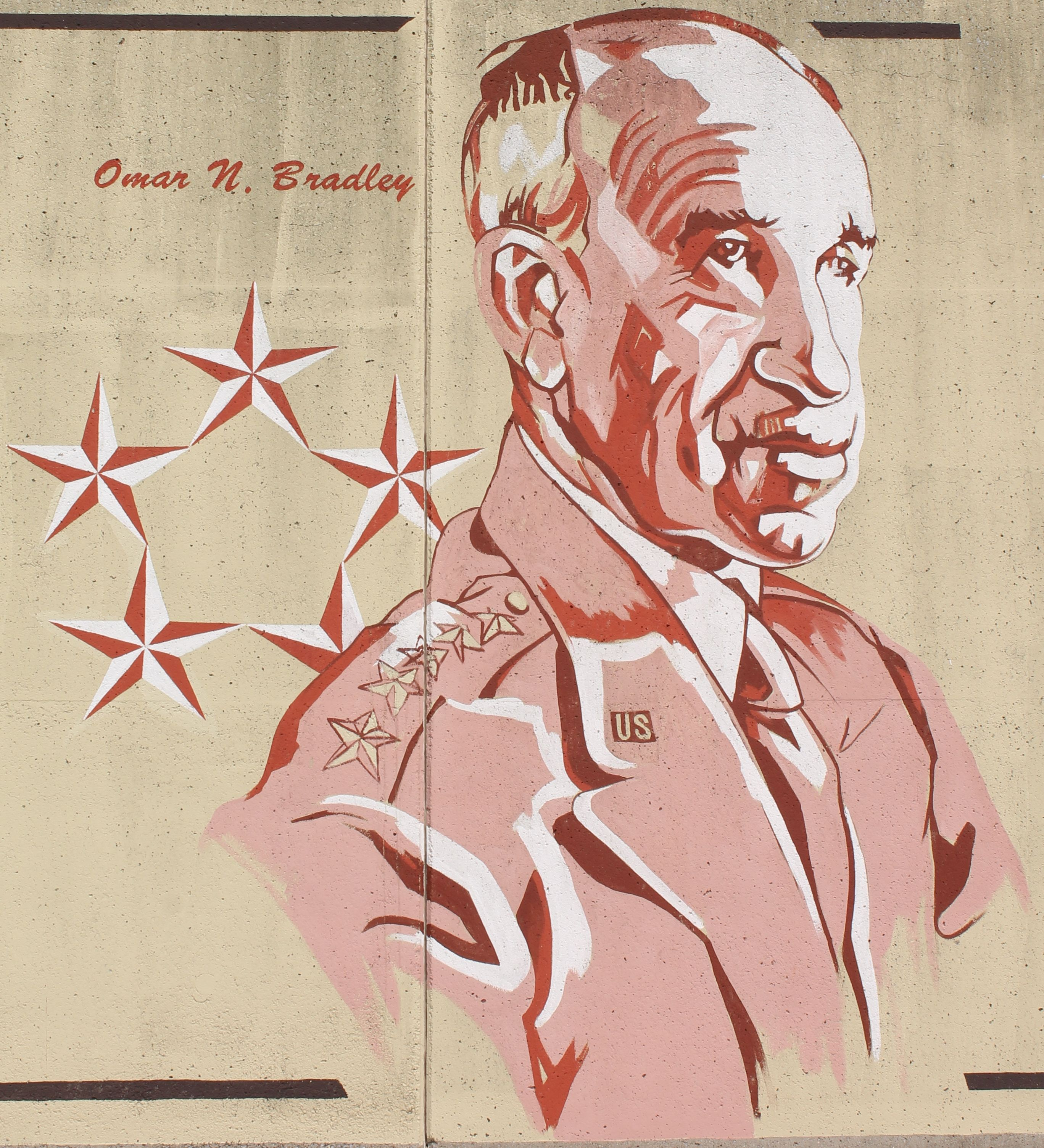 """Gen. Omar Bradley (1893-1981) was born in Clark, MO. Known as """"the soldier's general"""" during WWII, he commanded the largest American force ever united under one man's leadership. His military career extended over 38 years, during which he attained the title of Chairman of the Joint Chiefs of Staff. -Old Town Cape"""