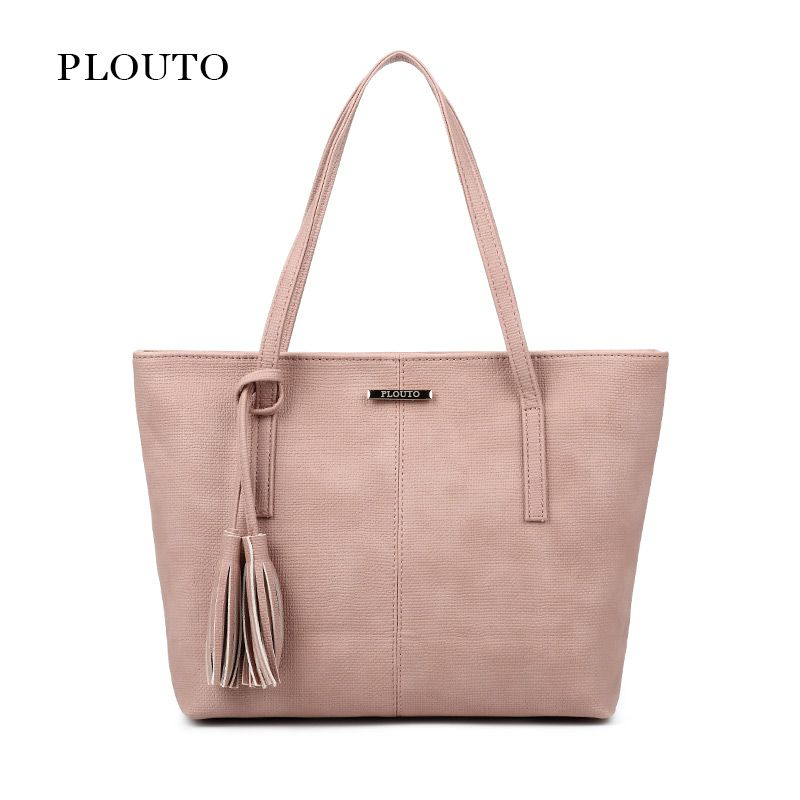 Plouto Brand Women s Large Leather Bags Handbags Bolsa Feminina Casual Shoulder  Bag for Women Female Ladies 3a648053fdab
