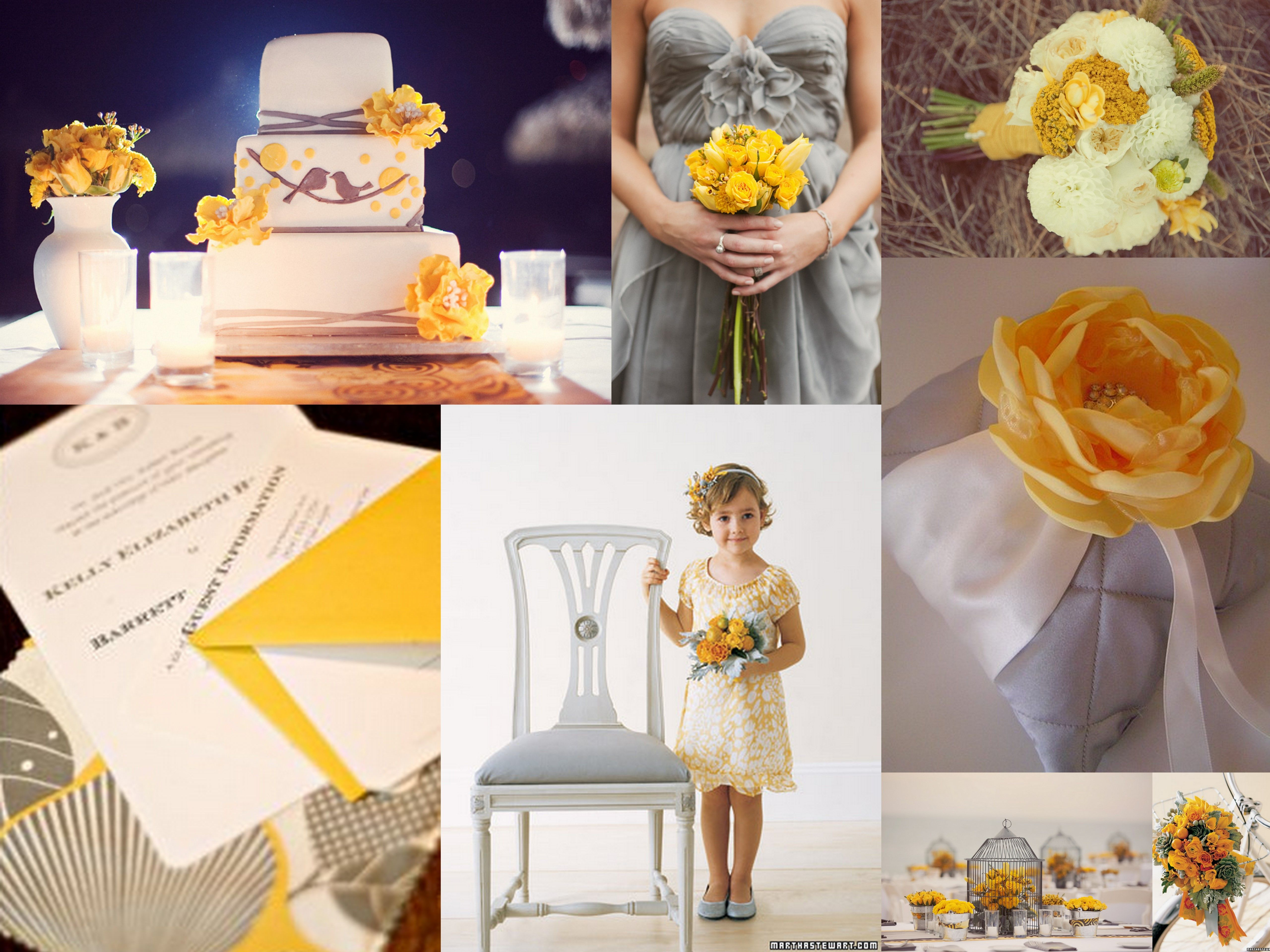 Wedding Inspiration By Jayna Yellow And Gray
