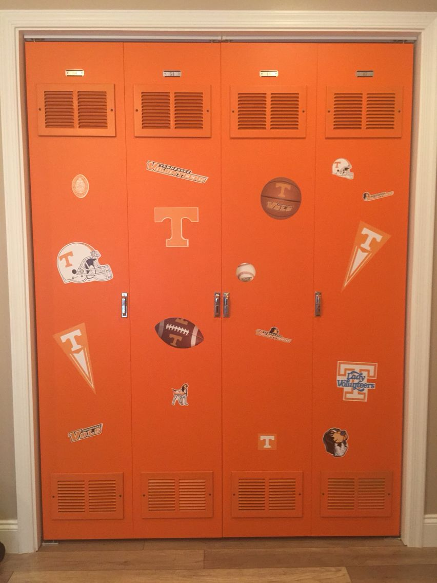 Etonnant DIY Locker Closet Doors Used Flat Slab Bifold Doors And Vent Covers! Even  Found Door Latches And Locker Numbers Online! Go Vols!
