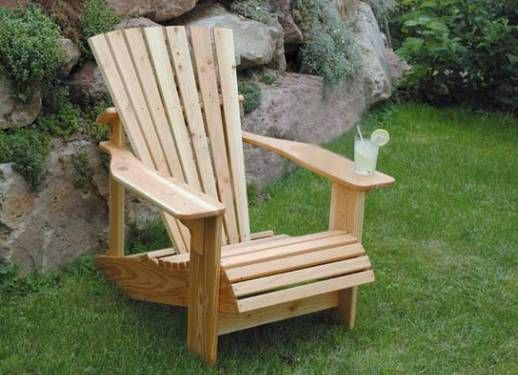 Gartenmöbel selber bauen Adirondack Sessel Garten Pinterest