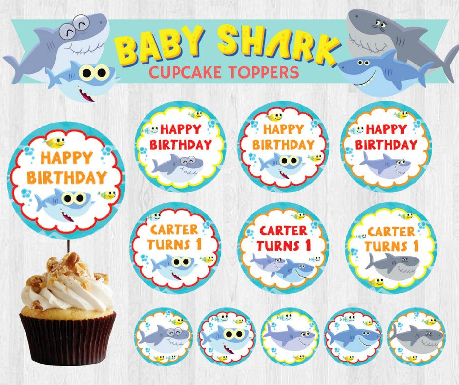 Kitchen, Dining & Bar Have An Inquiring Mind Cool Sharks Edible Cupcake Toppers Decoration