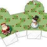 Caixa Cupcake Natal Papai Noel e Boneco de Neve: