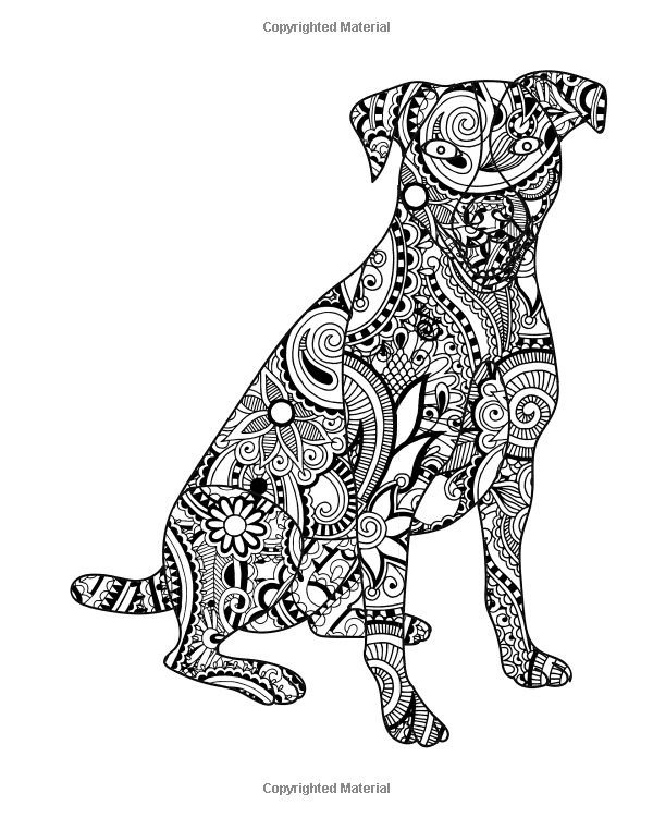 Amazon.com: Dog Coloring Book for Adults: Dog Coloring Book ...
