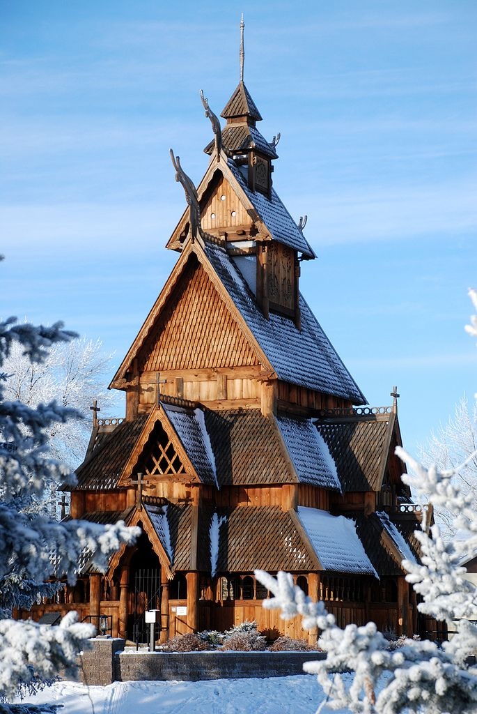 9 Majestic Spots In North Dakota That Will Make You Feel Like You Re At The North Pole Scandinavian Architecture Architecture Old Country Churches