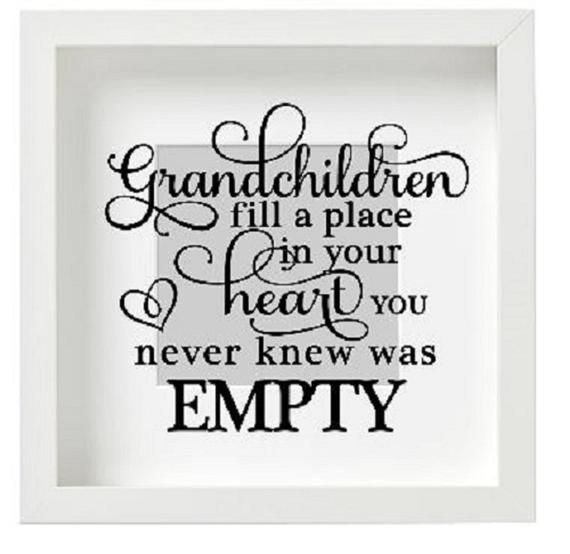 Vinyl sticker for IKEA box frame Grandchildren Quote birthday mother fathers day