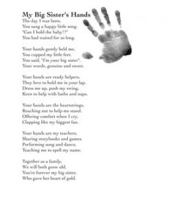 Present This Poem To Big Brotherbig Sister From New Baby Baby