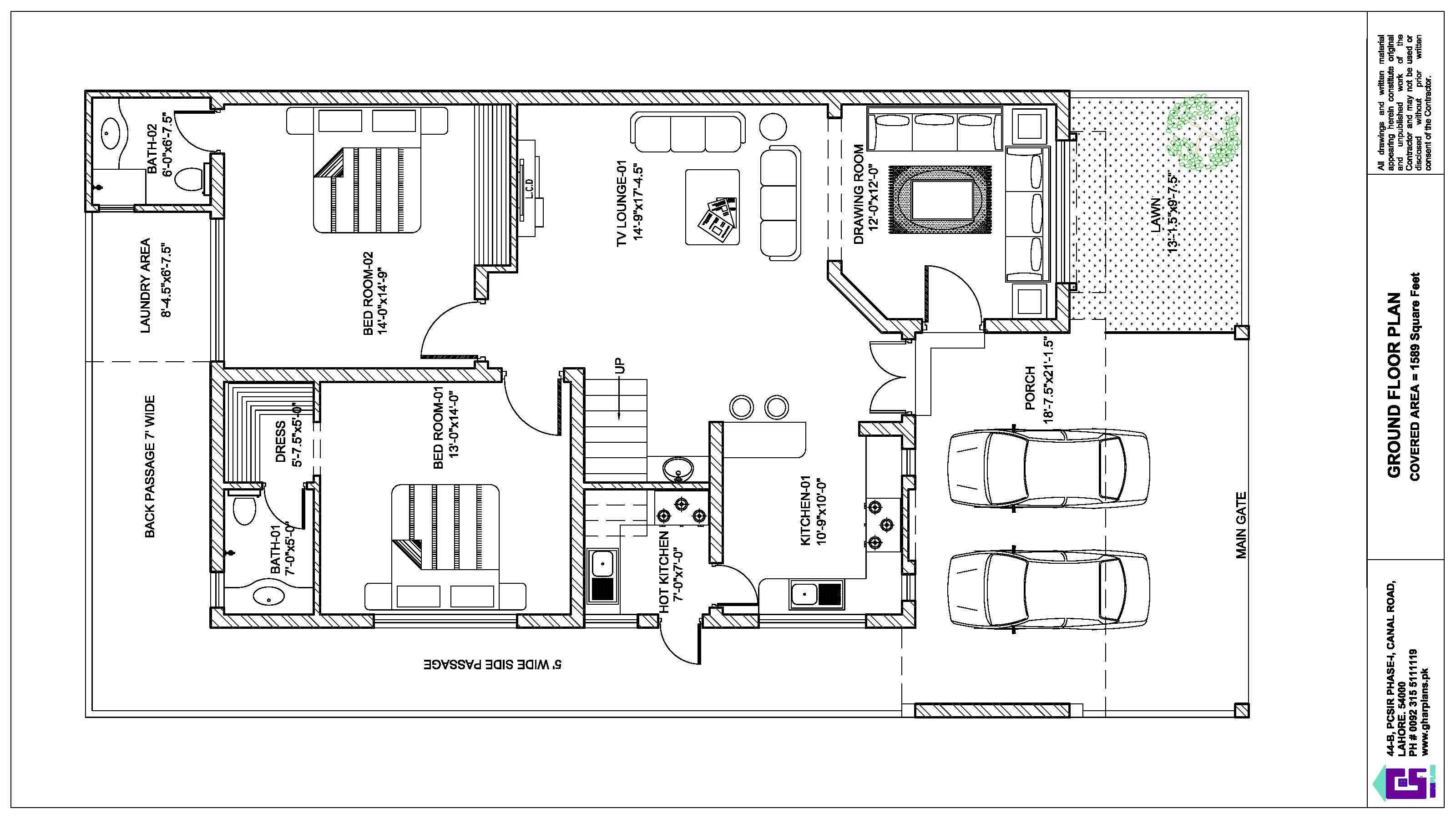 10 Marla House Ground Layout Plan House Layout Plans House Layouts 10 Marla House Plan