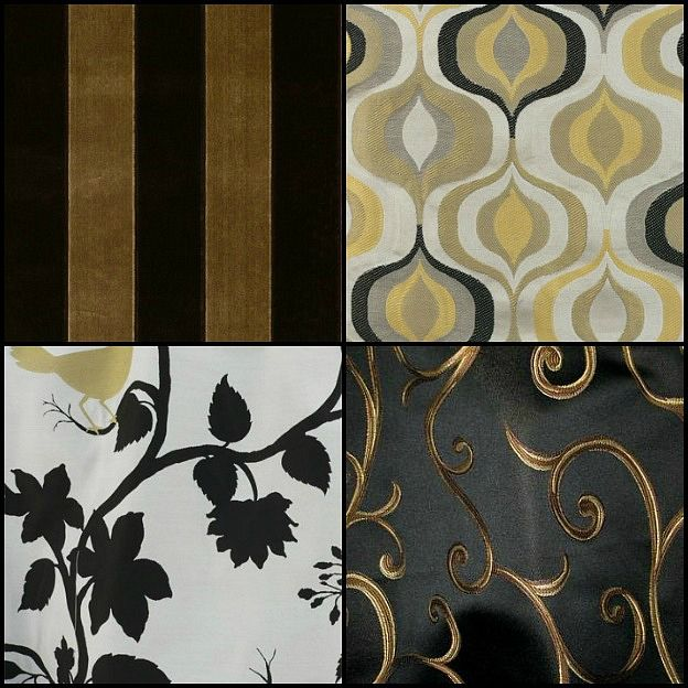 Black and Gold fabric | Saintsational Black and Gold Home Decor ...