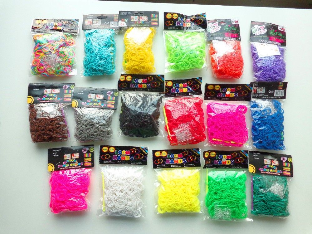 nice HOT SALE Factory-Direct-Sale High-Quality Solid-Color loom Rubber bands 600 peices with opp package(D01)