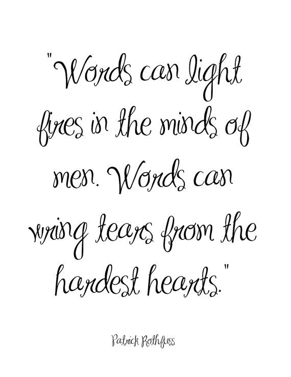 Quote Printable..Words can light by PrintableInsight on Etsy
