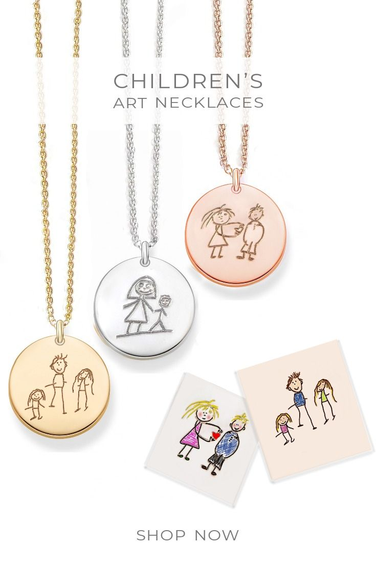 Actual Handwriting Necklace, Kids drawing into jewelry, Cute gifts, It Gifts, Handwriting gift