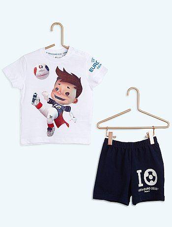 Pijama corto 'UEFA'                                                                                         blanco Infantil niño