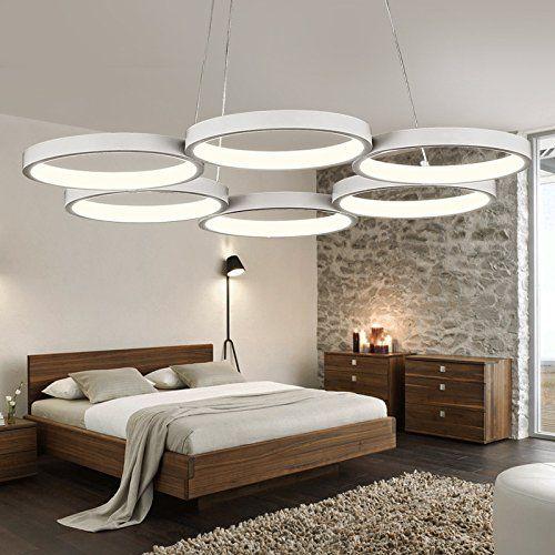 Ring Led Simple Modern Minimalist Led Acrylic Ring Lamp Pendant Lights Room Restaurant Creative Lamp Lighting Ceiling Lamp White Pendant Lamp Dining Room Lamps