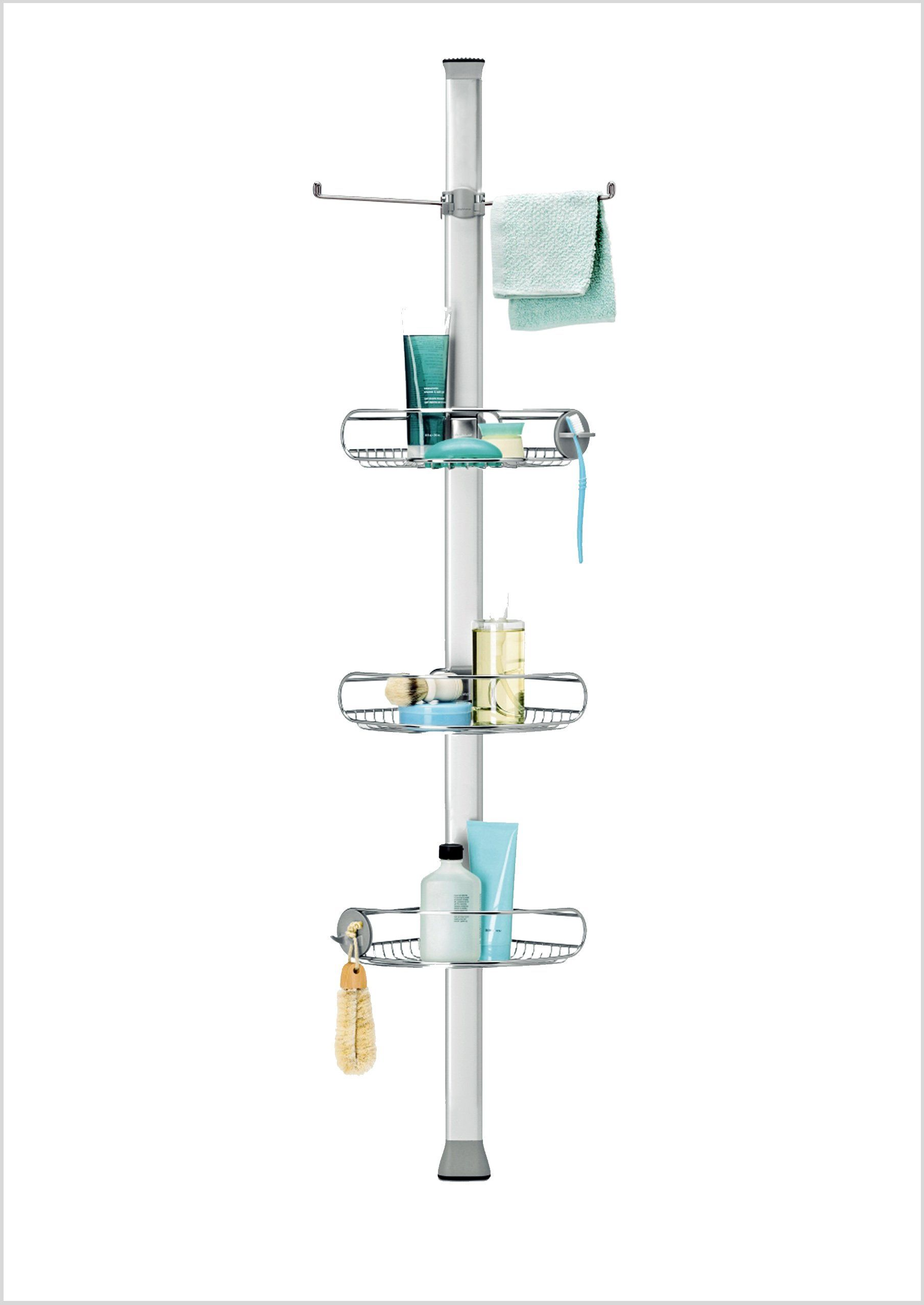 Best Simplehuman Adjustable Tension Shower Caddy Stainless 400 x 300
