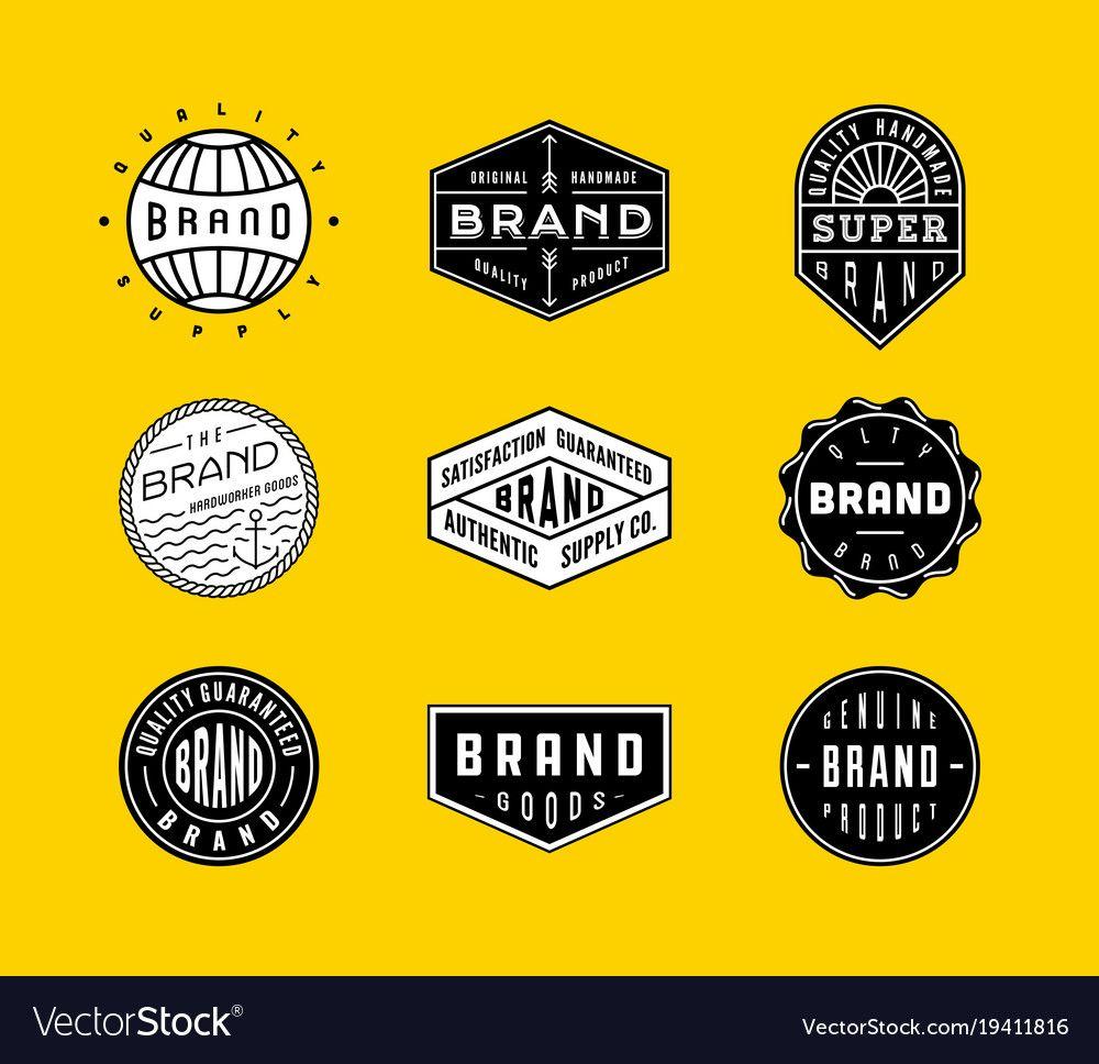 Vintage logo badges 2 vector image on in 2020 Vintage