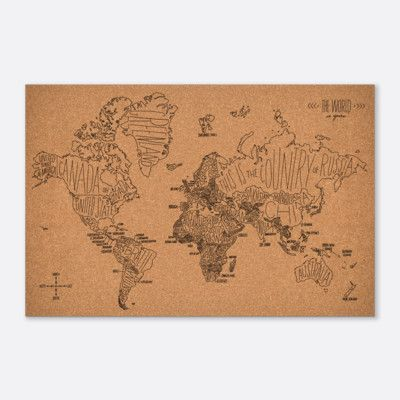 Easy tiger world map cork bulletin board ce dont jai envie easy tiger world map cork bulletin board gumiabroncs Choice Image