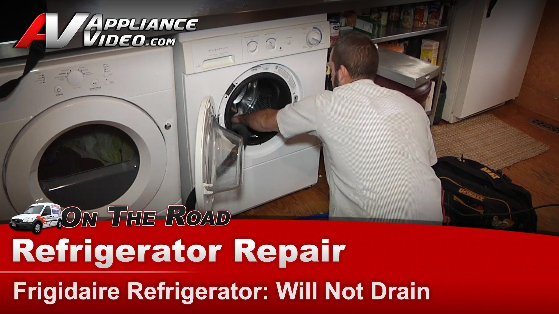 Washer Front Load Repair - Will Not Drain or Pump water Out - Frigidair.