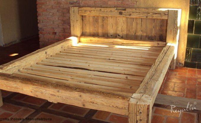 Dodatkowe meble drewniane łóżko ze starego drewna stare belki | Muebles in HE88