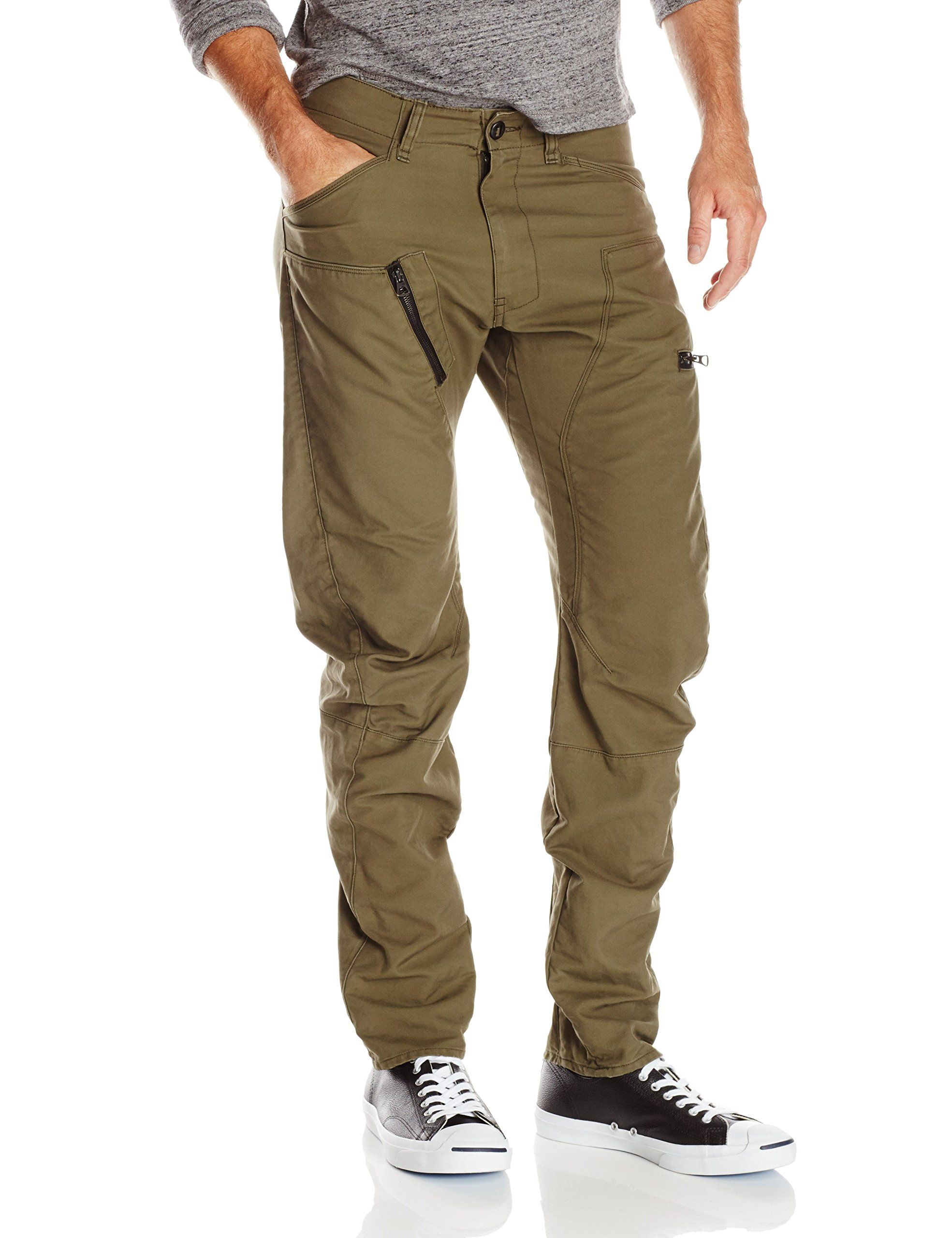 0d458b587b8 G-Star Raw Men's Powell Solar 3D Tapered Fit Pant Overdye, Combat, 38x32