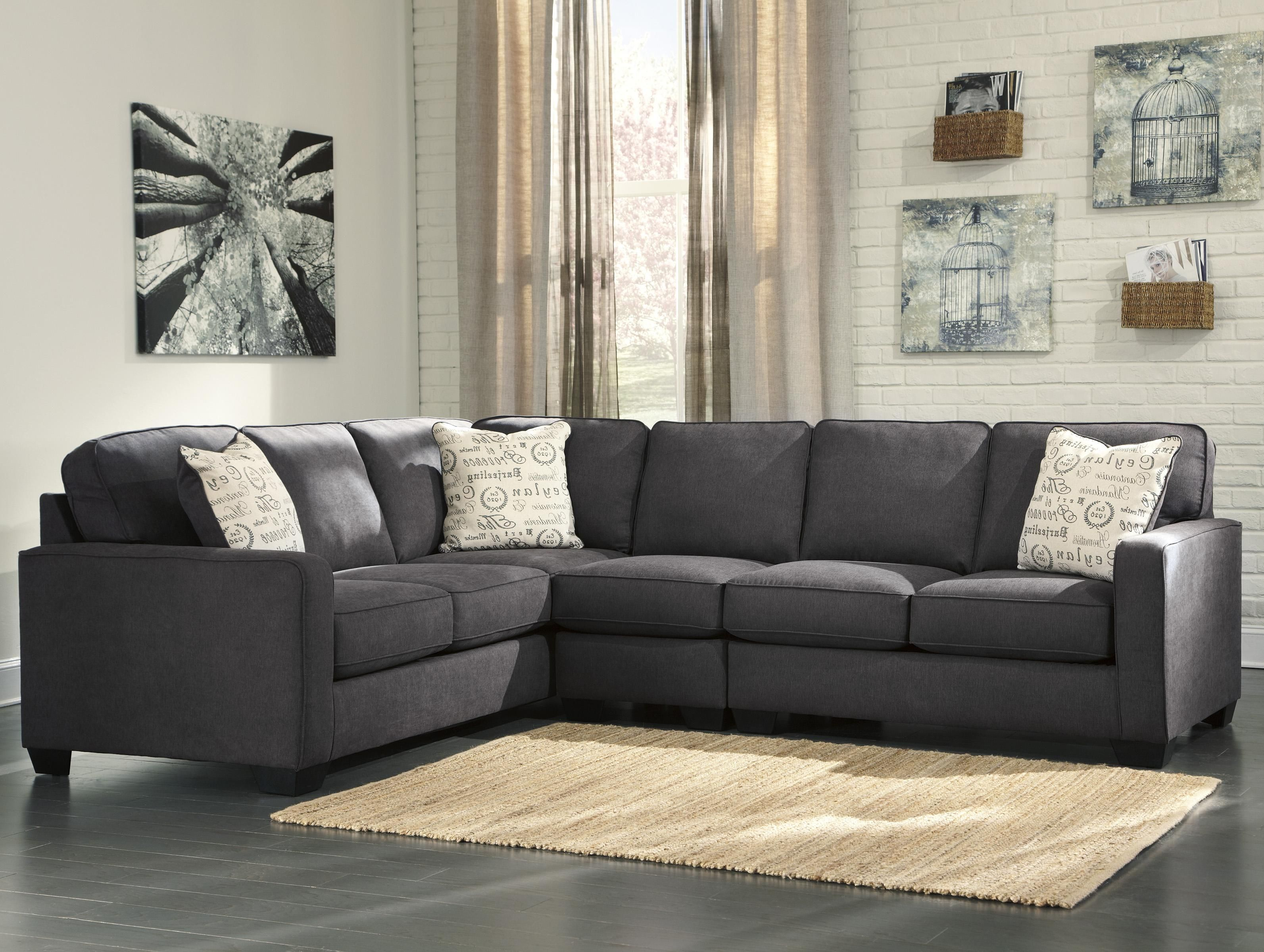 Best Alenya Charcoal 3 Piece Sectional With Right Loveseat By 400 x 300