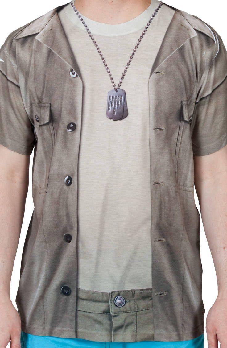 53b82880 Hawkeye MASH Costume Shirt | New Mens T-Shirts From 80sTees.com ...