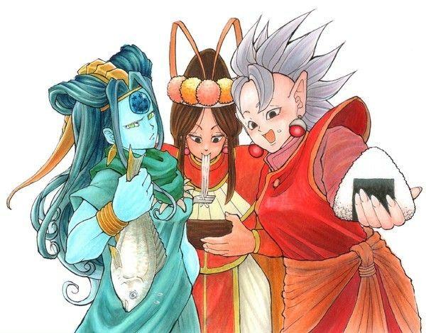Oce Shenron Annin And West Supreme Kai Female Dragon Anime Comic