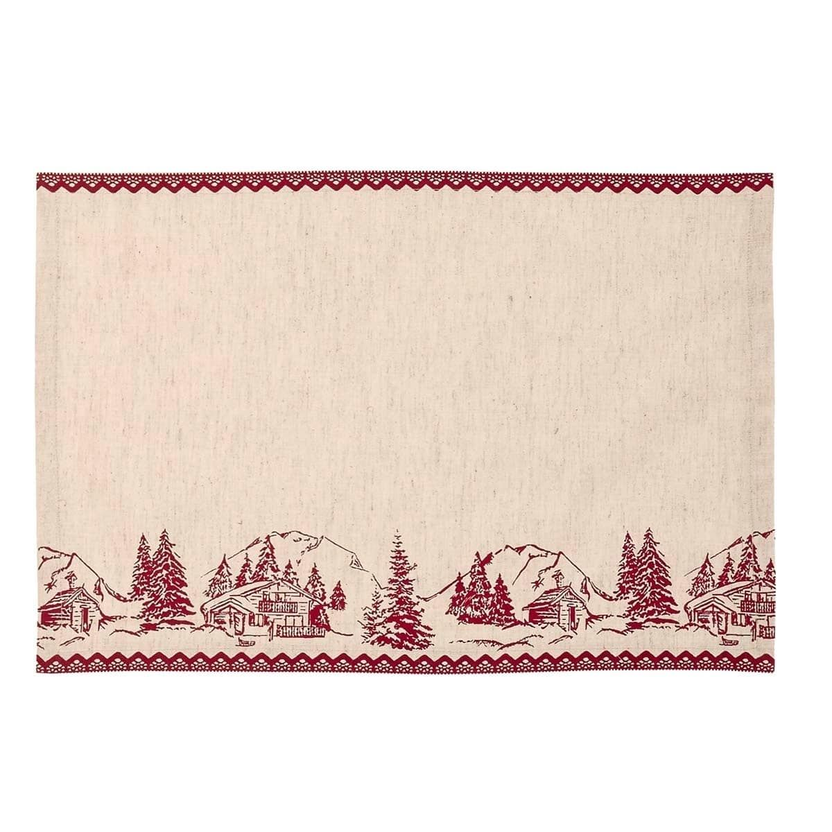 VHC Brands Cabin Christmas Placemat Set of 6
