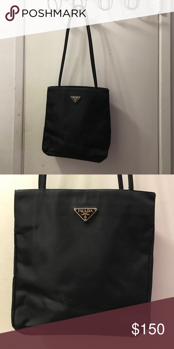 26e289d53fac 90's Prada nylon shoulder bag Gently used good condition clean inside and  out Prada Bags Shoulder Bags