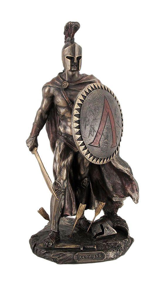 """9.75"""" Leonidas Greek Warrior King Statue Sculpture ..."""