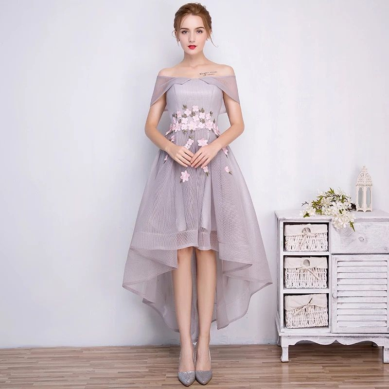 Click To Buy I Bay U Appliques High Low Evening Dresses African