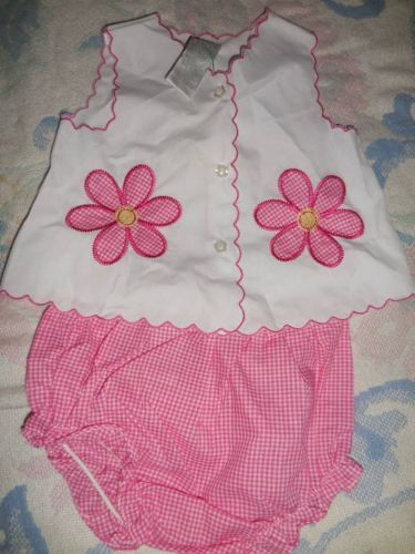 nwt lot 2 Specialty Baby top bloomer sets lady bug daisy baby girls 3 m 6 m