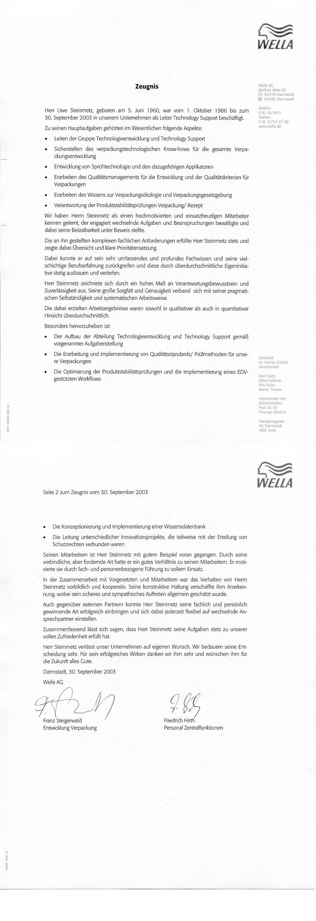 Wella AG Darmstadt Kosmetik Verpackungen