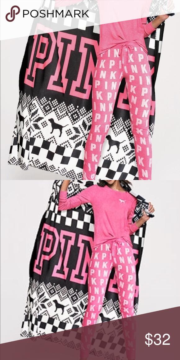 93b94aad61a VS fleece blanket new large VS fleece blanket new large PINK Victoria s  Secret Accessories