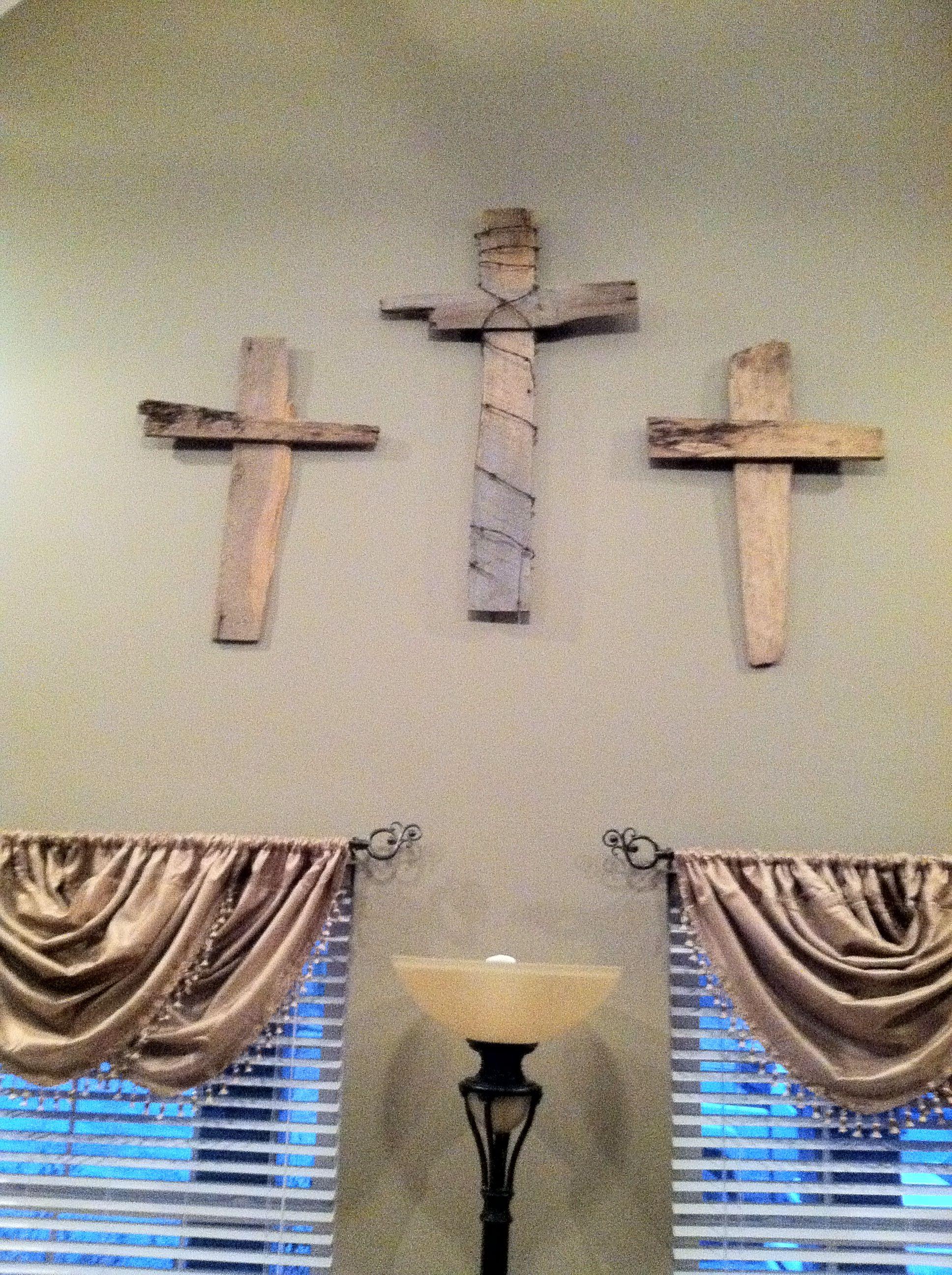 Old barn wood crosses