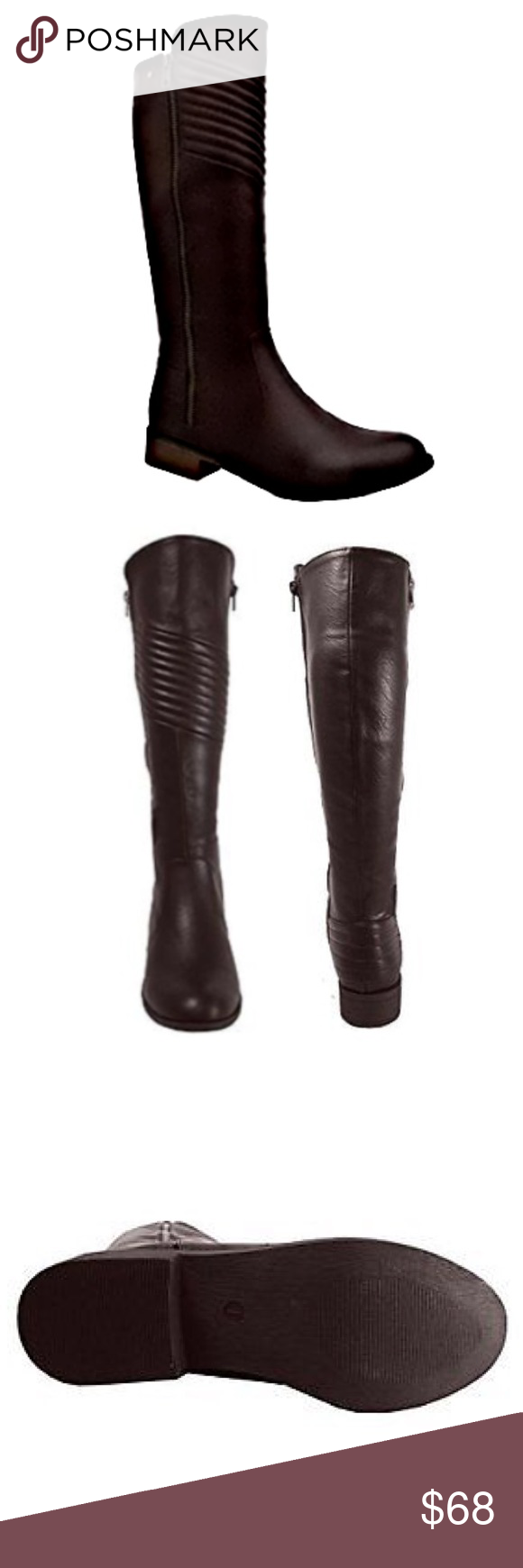 YOKI Quilted Zipper Riding BOOTS NEW IN BOX Brown BRAND NEW IN BOX!! Women's tall riding boots with quilted detailing pair well with jeans, & over leggings, for a casual, and comfortable outfit, and effortless style. These are the Perfect boots to pair with your all your favorite looks. Size: 10 / Color: Brown  BRAND NEW IN BOX!! Yoki Shoes Winter & Rain Boots