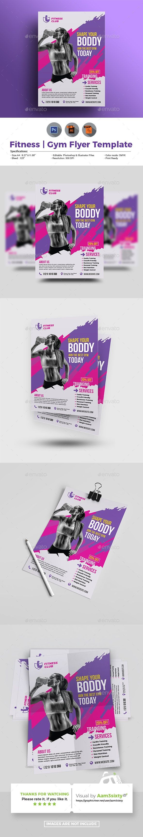 Fitness Flyer #AD #Fitness, #Aff, #Flyer