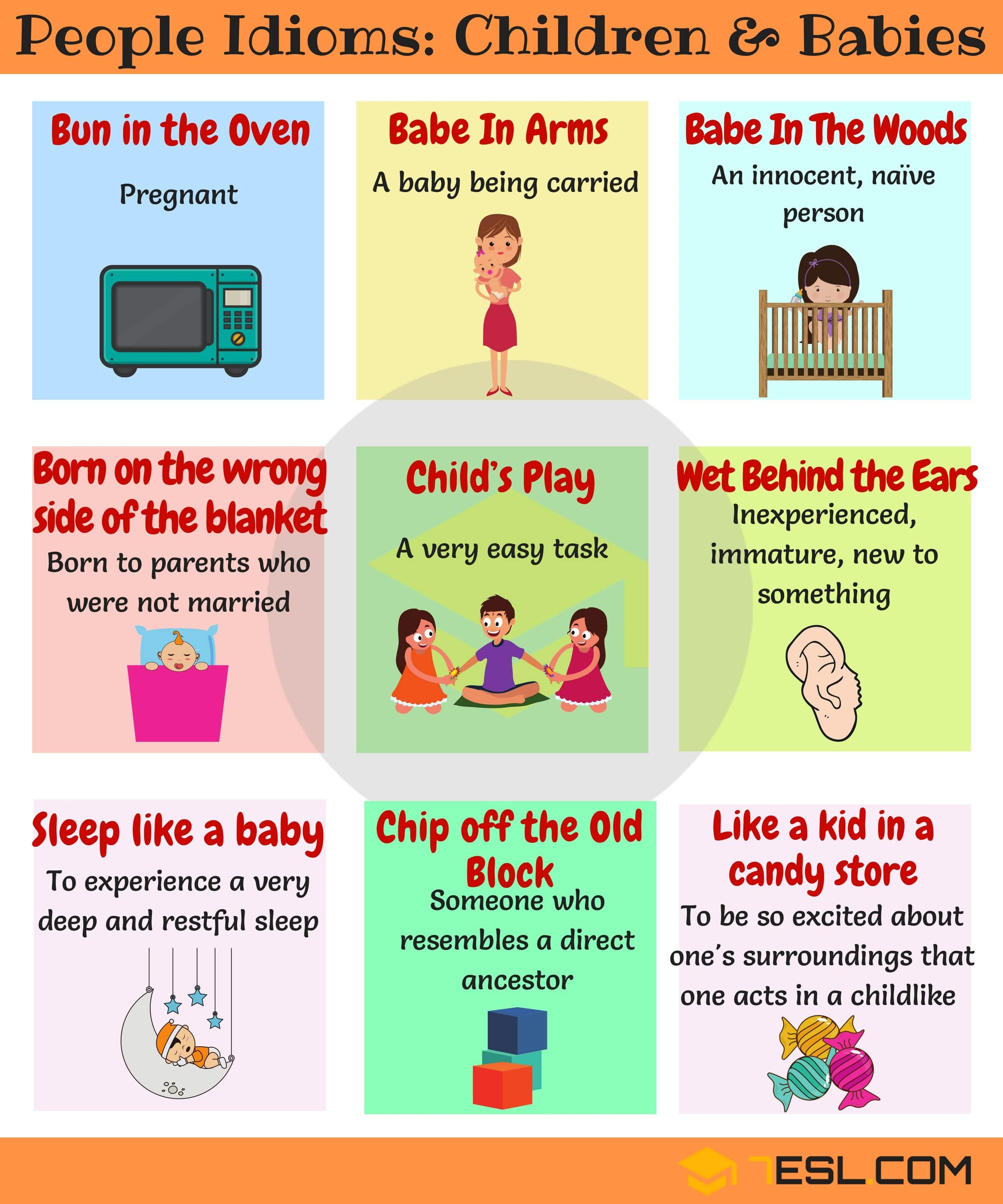 Baby Idioms Phrases And Idioms About Children And Baby